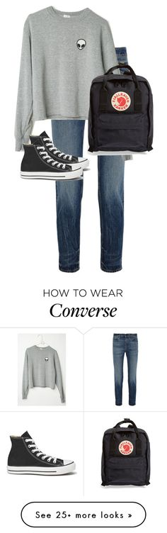 """Untitled #10829"" by alexsrogers on Polyvore featuring Alexander Wang, Fjällräven, Converse, women's clothing, women's fashion, women, female, woman, misses and juniors"