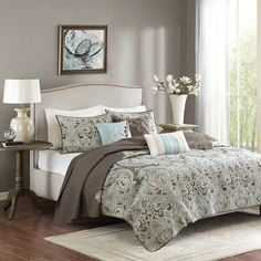 Madison Park MP13-1679 Geneva 6 Piece Quilted Coverlet Set, Brown >>> Want to know more, click on the image. (This is an affiliate link) Coverlet Bedding, Comforter Sets, Comforters, Beige Bedding, Beach Comforter, Pillow Shams, Urban Outfitters, King Quilt Sets, Queen Quilt