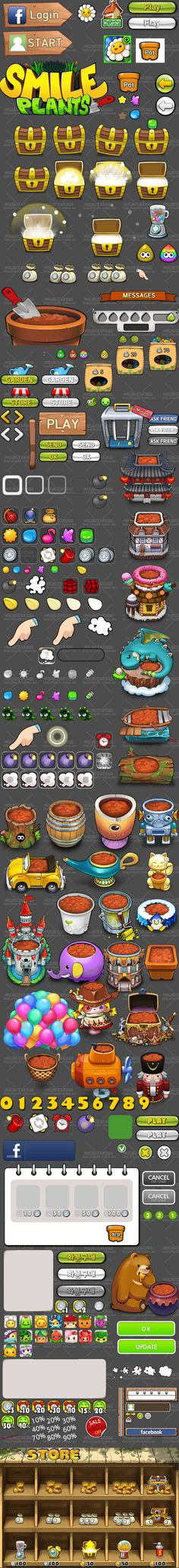 UI Game Gui, Game Icon, Game Themes, Game Ideas, Game Ui Design, Icon Design, Vector Game, 2d Game Art, Game Props