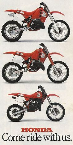 1989 Honda CR cross motoren lijn - 125 250 500 cc.