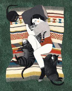 Illustration work by Lieke van der Vorst #CatIllustration