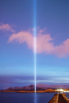 John Lennon Imagine Peace Tower to be lit by Yoko oct. 9 on John's 74th birthday.