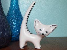 Ceramic Figurine CAT mid century