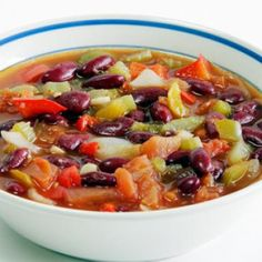 Red Bean Vegetable Soup - Healthy Recipes: Easy Meals from Canned and Dry Foods - Shape Magazine