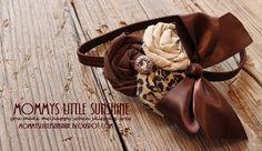 Cute headband using the same flower technique I do. Mommy's Little Sunshine: Fabric Rosette Flower Tutorial