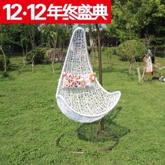 Indoor and outdoor / balcony garden / hanging chair rocking chair white / leisure / swing basket factory direct sale