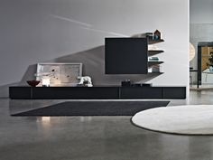 SECTIONAL STORAGE WALL PASS-WORD BY MOLTENI & C. | DESIGN DANTE BONUCCELLI