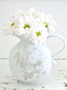 ❖Blanc❖ #White #daisies #shabbychic