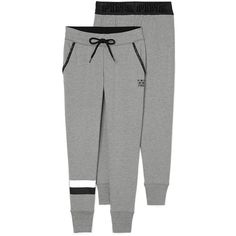 PINK Skinny Collegiate Pant ($60) ❤ liked on Polyvore featuring activewear, activewear pants, skinny fit sweatpants, green sweat pants, skinny jogger sweatpants, pink sweatpants y sweat pants