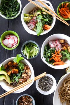 Build your own bowl Soba Noodle Bowl Recipe | via Camille Styles