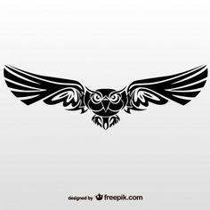 Vector illustration of tribal owl Free Vectors. More Free Vector Graphics, www.123freevectors.com