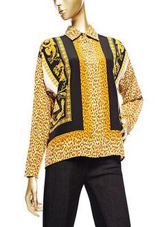 Versace - Leopard Animalier Silk Shirt