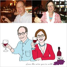 For the wine loving couple, Kathy and Ken!