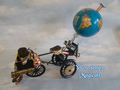 """Miniature Art piece Steampunk tricycle """"Chadwick's Velocipede"""" by YellowjumpyMagicals on Etsy"""