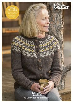 Beautiful colourwork cardigan with free pattern