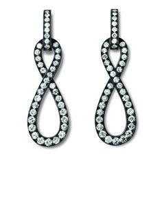 Hemmerle earrings with diamonds set in black finished silver and white gold Photo courtesy of Hemmerle
