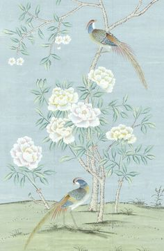 Grey Toile Wallpaper, Chinoiserie Wallpaper, Home Wallpaper, Flower Wallpaper, Pattern Wallpaper, Bedroom Wallpaper, Decoupage, Chinese Patterns, Kew Gardens