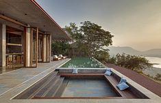 Contemporary retreat located in the Sahyadris, Mumbai, India, designed in 2017 by Khosla Associates.