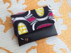 African Wax Print Clutch Bag  Beautiful Pink Makoti by ChangNoii