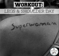 Work your legs and shoulders in this workout Tish did! | Fit Bottomed Girls
