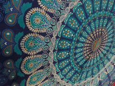 Blue Color Theme Mandala Indian Tapestries, Bohemian Tapestries, Indian Tapestry Bedding, tightly loomed fabric wall décor.    These Exclusive