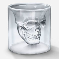 Buy 500ML Crystal Head Vodka Bottle and Two Crystal Skull Pirate Shot Glass Drink Cocktail Beer Cups Set (Color: Transparent) by balabala shop on Dot & Bo