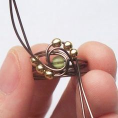 The Wired Tree: Ring Tutorial- Beaded Wrapped Stone Ring