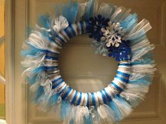 Winter Tulle Wreath 5 yards of various colored tulle Foam wreath frame  Desired decorations (I