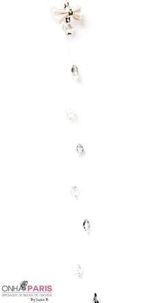 Dolia - Bijoux pour cheveux Collection Fantaisie Petit noeud argent�