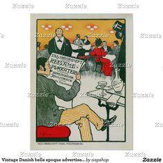 Vintage Danish belle epoque advertisement Poster