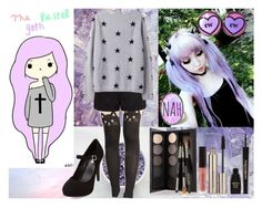 """""""The Pastel Goth *-*"""" by raquel-galvao ❤ liked on Polyvore featuring Forever New, Charlotte Russe, Laura Mercier and Napoleon Perdis"""