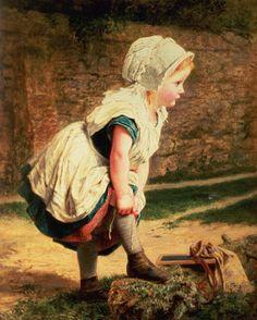 ✿ڿڰۣ(̆̃̃•Aussiegirl Sophie Anderson (1823 – 1903, French-born English)--Wait For Me!