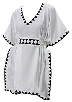 Womens Embroidered Bikini Beachwear Swimwear Swimsuit Cover up Solid White Loose One_Size_Fits_Most Plain Spring Summer 2017 * Continue to the product at the image link.  This link participates in Amazon Service LLC Associates Program, a program designed to let participant earn advertising fees by advertising and linking to Amazon.com.