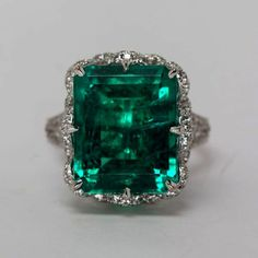 Emerald Ring To Be Worn On Which Finger Natural Emerald And Diamond Rings Sterling Silver Flowers, Sterling Silver Jewelry, Silver Ring, Ringa Linga, Saphir Rose, Emerald Jewelry, Emerald Rings, Diamond Rings, Dream Ring