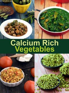 Calcium Rich Vegetables, Calcium Indian Subzi Recipes - calcium shortage natural home remedy, What are the symptoms and signs and the most effective food t - Indian Vegetable Recipes, Veg Recipes, Curry Recipes, Indian Food Recipes, Vegetarian Recipes, Cooking Recipes, Healthy Recipes, Appetiser Recipes, Recipies