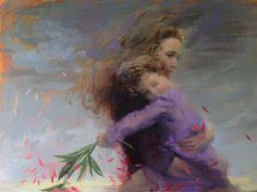 La Beauté des Femmes et des Filles capturées dans des Peintures à l'Huile éthérées (4)