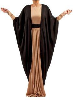 RABIA Z.  DRAPED LONG DRESS/ ABAYA