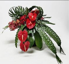 Anthurium and weaving