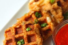 Mozzarella Waffles (use almond meal instead of flour, and use on-plan bread crumbs)