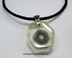 Shamanic Harmonics - Psychedelic Art & Jewelry Laboratory - Mushroom Sporeprint Necklace Pendants