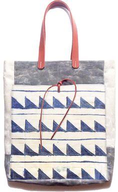 McLovebuddy Indigo Zag Market Tote Bag