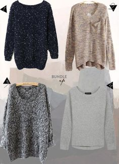 I can never say no to a slouchy sweater - my weakness