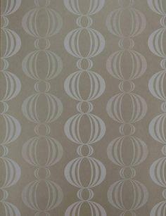 Azhar Taupe Retro Orb Wallpaper