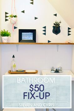 Want to spruce up your bathroom but have a budget? Here's how to make it happen.