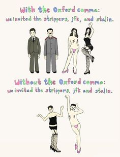 it's important, the Oxford comma