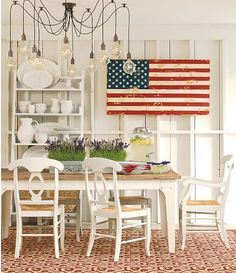 Love this painted American flag http://rstyle.me/n/jj3pznyg6