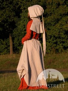 "MEDIEVAL DRESS AND SKIRT SET ""RED ELISE"""