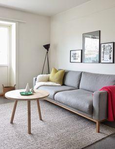 Stue, skandinavisk, rene linjer, North Sofa, håndlaget rundt sofabord