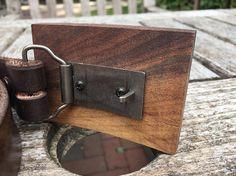 wood belt buckle walnut