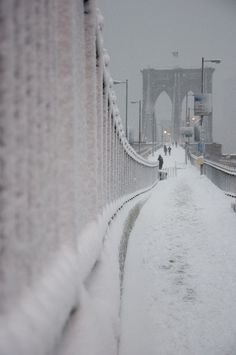 Brooklyn Bridge - Manhattan, New York / Vereinigte Staaten von Amerika / United States of America / USA + Winter